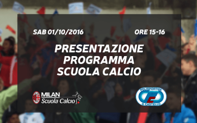 Presentazione Ufficiale Scuola Calcio a.a. 2016/2017