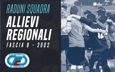 Raduni 2017/18 – Allievi Regionali Fascia B 2002