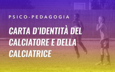 Carta d'identità del calciatore e della calciatrice