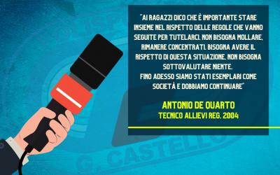 Parola a Mister Antonio De Quarto
